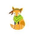 Fox Wearing Tribal Poncho vector image vector image