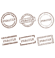 Fragile stamps vector image vector image