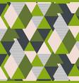 fresh green triangle geometric pattern vector image