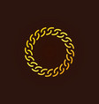 golden chain round outline icon or logo vector image