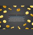 golden coin rain jackpot or big win concept vector image vector image