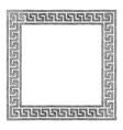 greek frame with meander vector image vector image