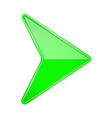 green shiny 3d arrow vector image vector image