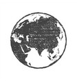 grunge texture gray world map globe transparent vector image vector image