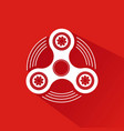 hand spinner emblem with red background vector image