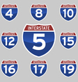 INTERSTATE SIGNS 4-19 vector image vector image