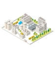 isometric industrial district vector image vector image