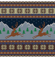 knitted wool tapestry with deers and a starry sky vector image vector image
