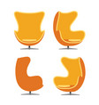 luxury chair isolated on white background vector image vector image