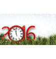 New year 2016 background with clock vector image vector image