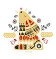 nordic ornaments folk art pattern scandinavian vector image vector image