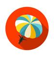 parasailing summer kiting activity icon vacation vector image