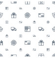 parcel icons pattern seamless white background vector image vector image