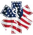 patriotic paramedic emt medical service usa flag vector image vector image