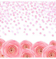 Pink Rose With Confetti vector image vector image