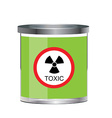 Poison toxic symbol vector image vector image
