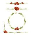 poppy design elements vector image