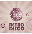 retro disco ball vector image