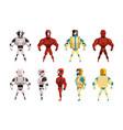 robot ostumes set superhero man vector image vector image