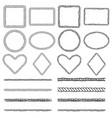 rope frames bundle hand drawn shapes vector image