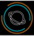 saturn planet icon vector image