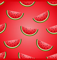 seamless fun watermelon hand drawing vector image vector image