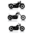 set motorcycle silhouettes vector image