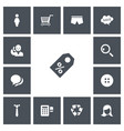 set of 13 editable shopping icons includes vector image vector image