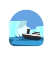 Ship Hitting The Iceberg Natural Force Sticker vector image vector image