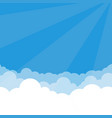 simple sky and clouds vector image vector image