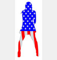 stars and stripes girl vector image