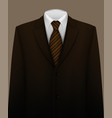 suit background with tie vector image vector image