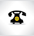 taxi sign call taxi icon retro phone with circle vector image vector image