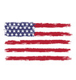 usa flag in grunge style vector image vector image