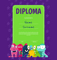 Vertical children diploma or certificate