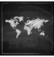 vintage with world map on blackboard vector image vector image