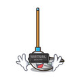 virtual reality mop mascot cartoon style vector image vector image