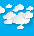 White clouds on blue background vector image vector image