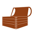 wooden chest isolated icon vector image vector image