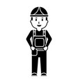 worker man construction standing character vector image vector image
