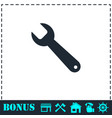 wrench icon flat vector image vector image