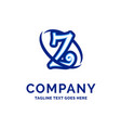 z company name design blue logo design vector image vector image