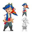 Kid Pirate Cartoon Character vector image