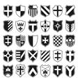 Large set of heraldic shields vector image
