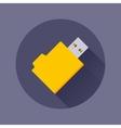 USB flash-drive icon vector image