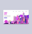 3d smart city with skyscrappers cityscape vector image