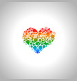 abstract colorful heart vector image