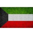 Abstract Mosaic Flag of Kuwait vector image vector image