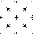 airplane pattern seamless black vector image vector image