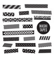black and white washi tape strips vector image vector image